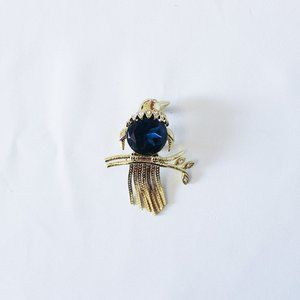 Kenneth Jay Lane's Blue Bird of Happiness Pin